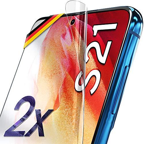 UTECTION 2X Schutzfolie für Samsung Galaxy S21 5G - Fingerabdruck kompatibel - Premium Folie KEIN Glas - Hüllenfreundlich - Anti Kratzer Displayschutzfolie Ultra Clear - Schutz Displayfolie