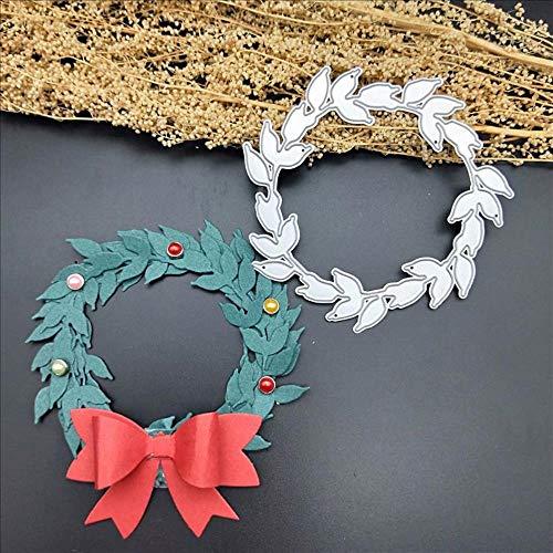 CTOBB Kerstkrans sterft scrapbooking stansingen stempel gesneden sjablonen papier foto kaart handwerk decoratie handwerk