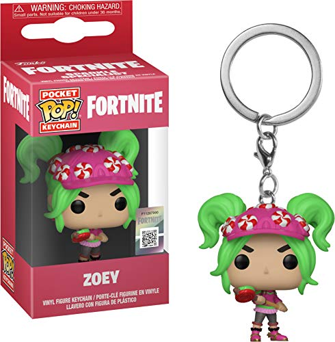 Funko- Keychain Pocket Pop Fortnite Zoey Figura, Multicolor (36973)