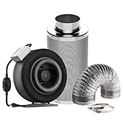 commercial VIVOSUN Air Filter Kit: Built-in fan 8 inches, 740ccm. Variable speed FPM, 8-inch carbon filter … 8 inch fan