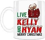 N\A Taza de Agua de Calidad de 11 oz Live Kelly and Ryan Merry Christmas Cup...