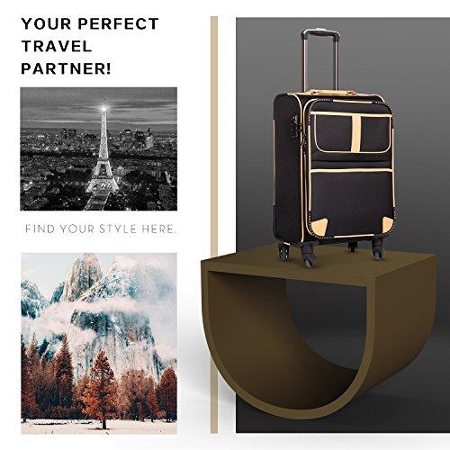 Coolife 3 Piece Suitcase Set