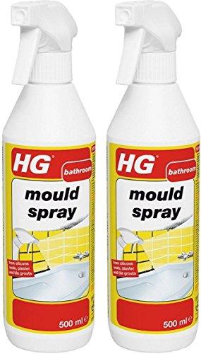 2x HG Hagesan Scale Away–Limpiador Baño–Juego para eliminación de moho spray 500ml