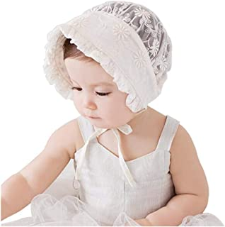 Liraly Baby Lace Hats Caps Lovely Girl Lace Infant Newborn Kids Flower Beanie Bonnet Headdress Hat for 3-24 Months