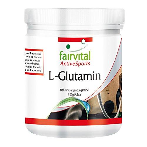 L-Glutamina en polvo - para 100 días - VEGANO - dosis alta - 500 g - Aminoácido - ¡Calidad Alemana garantizada!