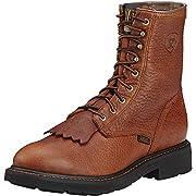 """Ariat Men's Cascade 8"""" Steel Toe Work Boot, Sunshine Wildcat, 9.5 M US"""