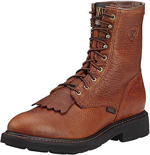 Ariat Men's Cascade 8' Work Boot, Sunshine Wildcat, 10.5 M US