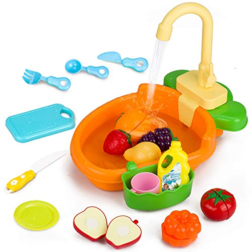 GrowthPic Play Kitchen Sink Toy Set, Water Toys for Kids...