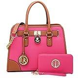 Women Designer Handbags and Purses Ladies Satchel Bags Shoulder Bags Top Handle Bags w/Matching Wallet