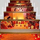 Emily Christmas SLT007 - Adesivo a Forma di Pupazzo di Neve 3D, Impermeabile, Decorativo, Colore: Rosso