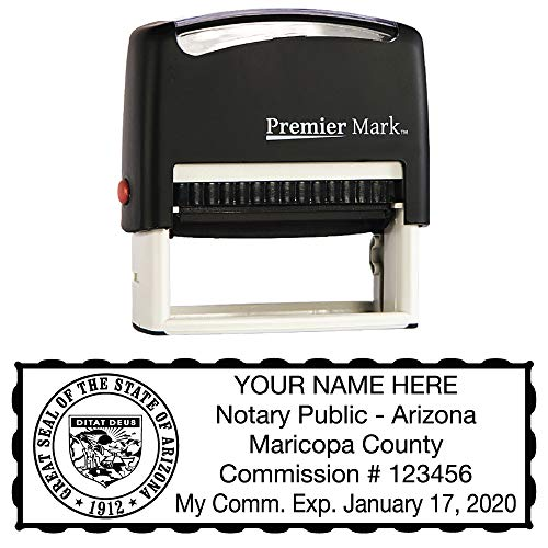 Arizona Notary Self-Inking Rubber Stamp - Meets State Specifications