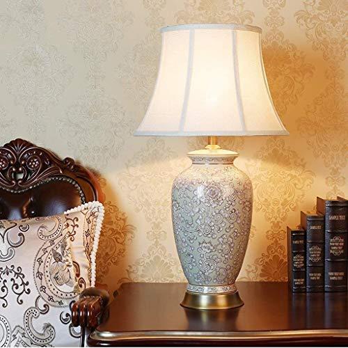 - Lámpara de Noche, American Country Lámpara de Mesa Lámpara de Noche Lámpara de Cama Luces de Sala de Estar Villa Acogedor y Elegante Lámpara de Mesa de Cobre Pintado a Mano. WKY