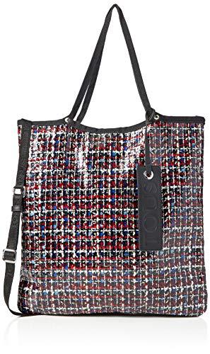TOUS Jodie Tweed, Bolso totes para Mujer, Azul (Marino 995900717), 40x41x1 cm (W x H x L)