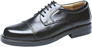 Mens Boys Classic Capped Gibson Leather Shoes Foam Padded. Size 6-14 UK