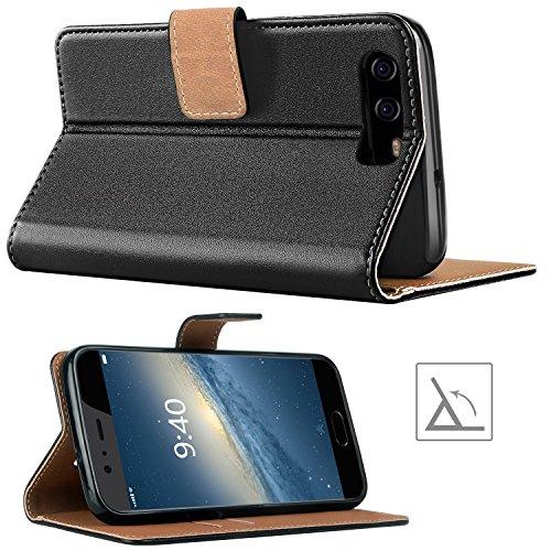 HOOMIL Handyhülle für Huawei P10 Hülle, Premium PU Leder Flip Schutzhülle für Huawei P10 Tasche, Schwarz - 4