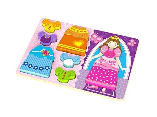 Tooky Toys TKC478 houten puzzel prinses, meerkleurig
