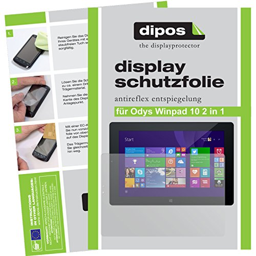 dipos I 2X Schutzfolie matt kompatibel mit Odys WinPad 10 2in1 Folie Bildschirmschutzfolie