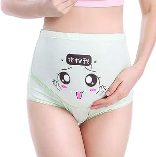 LFLF (Vert L) Maternité De Coton Réglable De La Taille Haute sous-vêtements pour Femmes Enceintes Culotte Coton