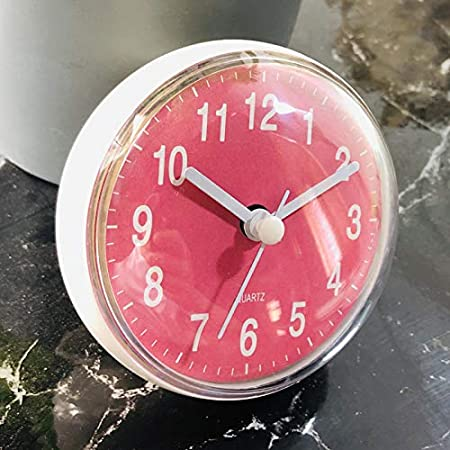 camera da letto Verve Jelly soggiorno rotondo impermeabile diametro 7 cm cucina per bagno Mini orologio da parete rotondo