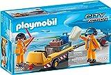 Playmobil - 5396 - Jeu - Agents avec Tracteur à Bagages