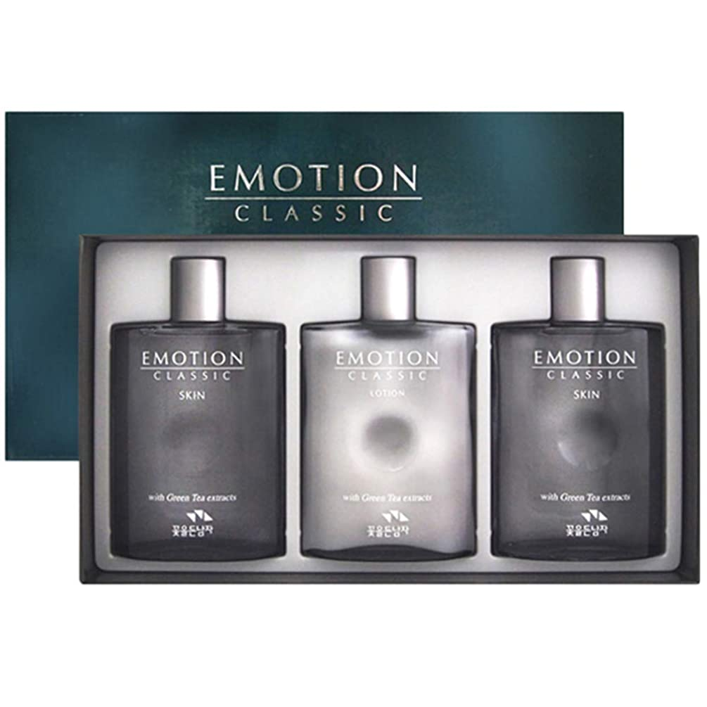 それによって干し草コウモリ花を持った男 Emtion Classic Men Skin Lotion Set エモーションクラシック2種男性化粧品セットスキン160ml2個 + ローション160ml [並行輸入品]