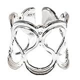 Córdoba Jewels | Sortija en Plata de Ley 925 con diseño Esses Silver