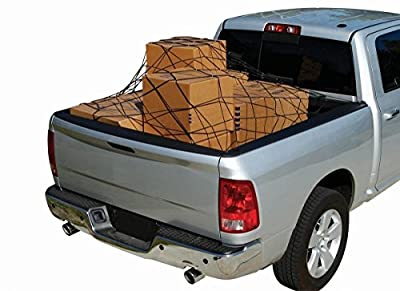"""Trunk Net Cargo Bed Tie Down Hooks for Truck Pickup Compact Size 60"""" x 78"""" NEW"""