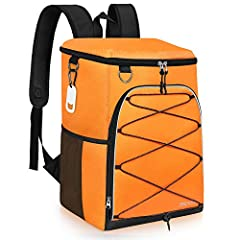 "LARGE CAPACITY: 25 Cans/25L, measures 13.3"" x 8.6"" x 14.9"", roomy enough to pack meals, beers, tall beverages, snacks and all your other necessities. Perfect insulated cooler backpack for lunch, work, hiking, camping, beach, road trip, outdoors etc. ..."