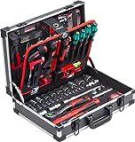 Meister Werkzeugkoffer 131-teilig - Mit Qualitätswerkzeug von Knipex & Wera - Stabiler Alu-Koffer / Profi Werkzeugkoffer befüllt / Werkzeugkiste / Werkzeugbox komplett mit Werkzeug /...