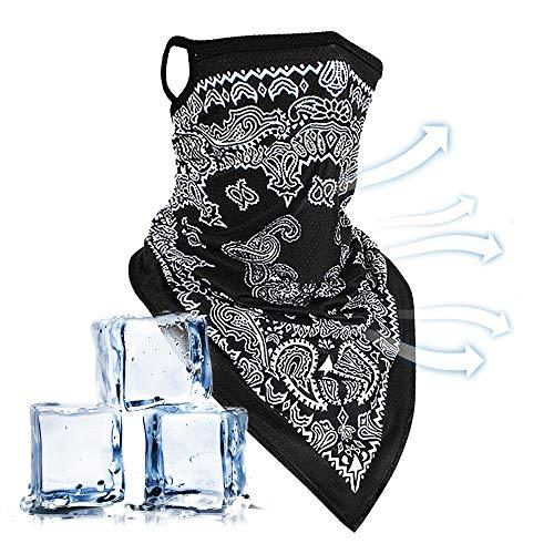Echden Unisex Nahtlose Bandana Face Shield mit Ohrbügel Halstuch Schlauchtuch Mundschutz Nasenschutz Outdoor Multifunktionstuch Atmungsaktiv Schlauchschal für Motorrad Laufen Wandern Joggen