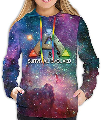 EYSKJ Hoodie ARK Survival Evolved Women Pullover Kapuzenpullover 3D Printed Sweatshirt Long Sleeve Hooded