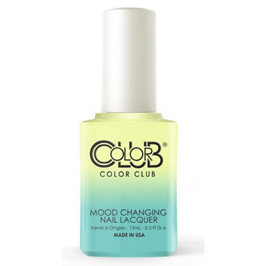 溶融エチケット操作可能Color Club Mood Changing Nail Lacquer - Shine Theory - 15 mL / 0.5 fl oz