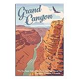Vintage-Reise-Poster, Grand Canyon, Leinwand-Kunstdruck,