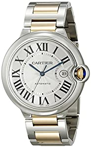 Cartier Men's W69009Z3 Ballon Bleu Stainless Steel and 18K Gold Automatic Watch image