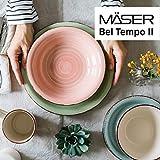 MÄSER 931602 Bel Tempo II Teller-Set für 6 Personen im modernen Vintage Look, 12-teiliges Tafelservice, handbemalt, Dunkelblau, Steingut, Blau - 5