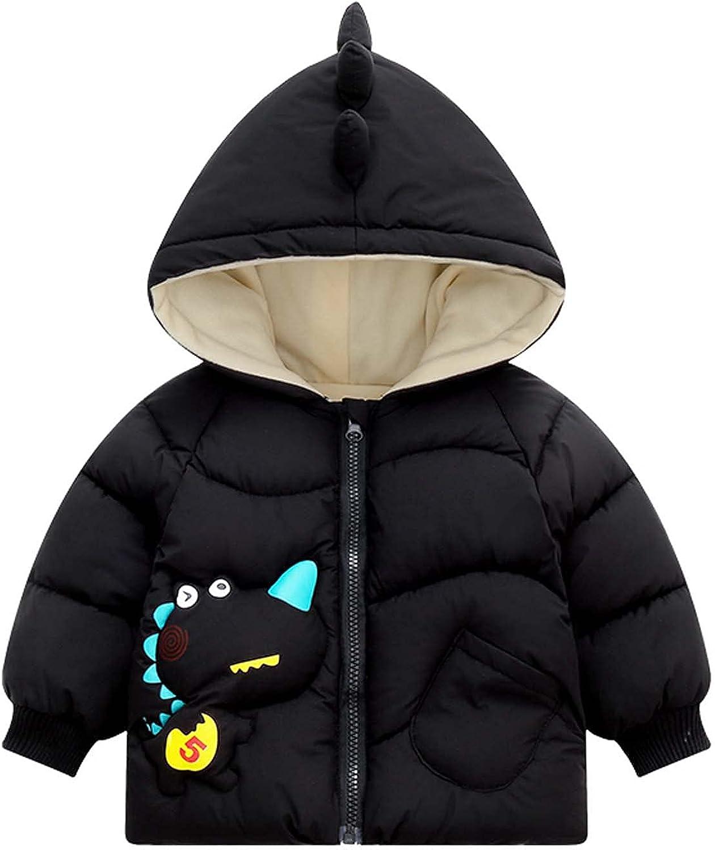 Max 86% OFF Baby Raleigh Mall Boys Girls Dinosaur Cartoon Down Cotton Thick Jacket Warm C