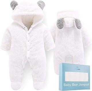 JanLEESi Baby Romper Cute Bear Long Sleeve Hoodie Jumpsuit Creepers One-Piece