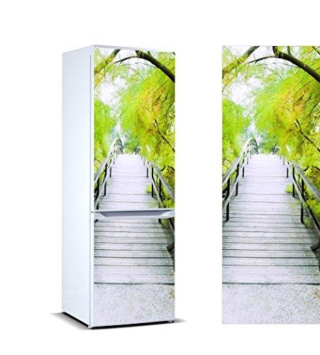 Oedim Vinilo para Frigorífico Vegetación 185 x 70 cm   Adhesivo Resistente y de Fácil Aplicación   Pegatina Adhesiva Decorativa de Diseño Elegante