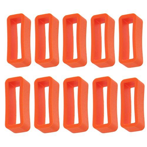 joyMerit 10 Piezas de Goma Reloj Banda Correa Titular Keeper Locker Locker Anillo Retenedor 14mm - Naranja, 20 mm