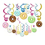 CC HOME 30Ct Donut Party Decoration ,Donut Hanging Swirl Decoration Kit - Dizzy Danglers Donut Party -Donut Party Supplies- Donut Party Hanging Decorations for Donut Time ,New Year,Wedding ,Christmas Party,Baby Shower ,Birthday Party Decoration