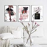 zsBig6 Mode Mädchen Wandkunst Druck Parfüm Poster Malerei
