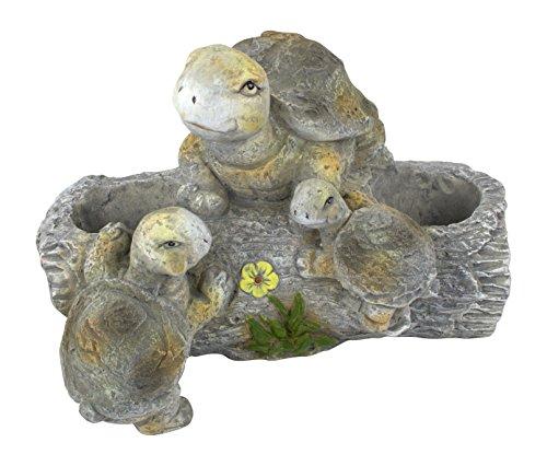 Decoline Garten Figuren mit Pflanz-Töpfen Drei Schildkröten