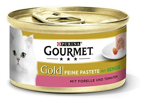 Purina Gourmet Gold Fijne Pasta, Hoogwaardig Kattenvoer, Diervoeding, Met Groenten, 12 Stuks (12 X 85 G Doos)
