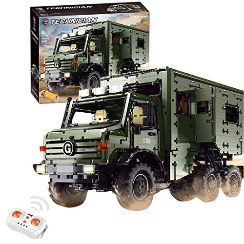 YOU339 6689Pcs - Caravana de viaje con doble mando a distancia, modelo compatible con Lego Technic, partículas pequeñas, colección de bloques de construcción y decoración