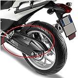 MG1109 Guardabarros de ABS Negro Compatible con Honda NC 700 x 2012 2013 GIVI