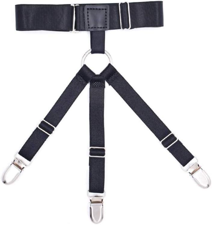 XISAOK 1 Pair Mens Shirt Remains Business Uniform Garter Leg Thigh Suspender Adjustable