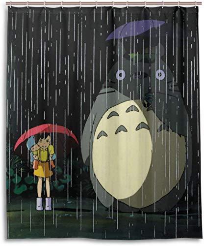 gshihuainingxianfuch Anime to-T-ORO Duschvorhang Liner wasserdichtem Polyester Bad Duschvorhang Stoff Duschvorhang 12 Haken 60 x 72 Zoll