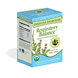 Lifestyle Awareness Respiratory Balance Tea with Clarifying Holy Basil, Caffeine Free, 20 Tea Bags, Pack of 6