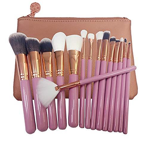 15 PCS Pinceaux Maquillage Or Rose Noir Argent Pinceau Outils De Maquillage Professionnels Professional Premium Synthétique Fondation Pinceau Estompeur,B1