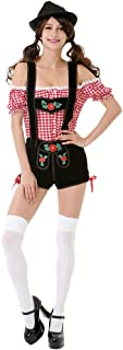Bavarian Beauty Women's Halloween Costume Sexy Tavern Maid Lederhosen Dress